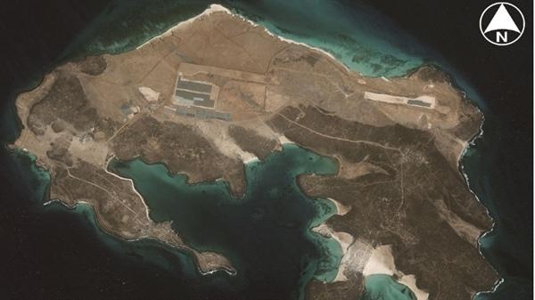 نتيجة بحث الصور عن احتلال اماراتي لجزيرة ميون صور جوية