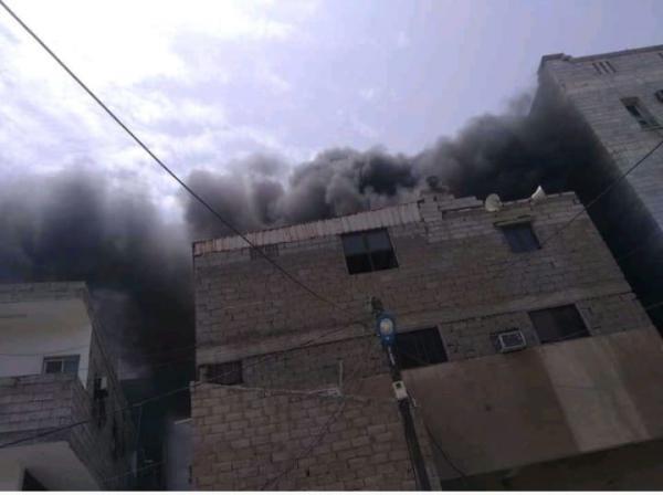 حريق هائل في مستشفى درة الدار بعدن