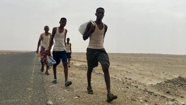 خلال سبتمبر الماضي.. الهجرة الدولية: أكثر من 600 مهاجر إفريقي وصلوا اليمن