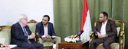غريفيث يناقش مع الحوثيين إشكالية خزان صافر ووقف القتال في الحديدة