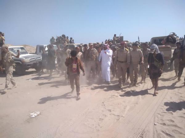انفجار قرب بوابة مقر التحالف السعودي الإماراتي بأبين