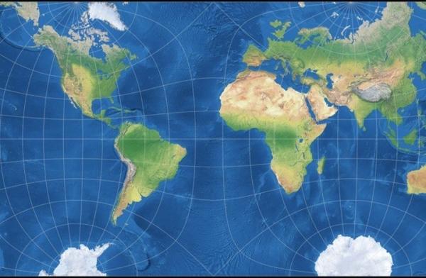 علماء يعيدون تشكيل خريطة الأرض بصورة مسطحة