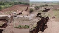 زلزال مرعب يشطر قارة أفريقيا إلى نصفين ( فيديو )