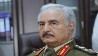 """شاهد.. أول ظهور لـ""""خليفة حفتر"""" بعد هزيمة قواته لأبراز معاقلها في ليبيا"""