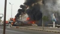 غارات جوية تستهدف محيط جولة يمن موبايل بالحديدة وسقوط قتلى مدنيين