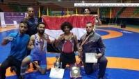 المنتخب اليمني للمصارعة يحصد 6 ميداليات في البطولة العربية للرجال