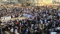 """احتجاجات هي الأكبر في المهرة وفاء لشهداء """"الأنفاق"""" ومطالبة بإقالة باكريت.. صور"""