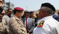 """اللجنة الرئاسية تتفقد ميناء نشطون والقوات البحرية بـ""""المهرة"""""""