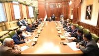 """الرئيس """"هادي"""": إعلان التحالف الوطني للأحزاب السياسية حدث مهم"""