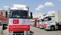 الهلال التركي يوزع 813 سلة غذائية على نازحين جنوبي اليمن