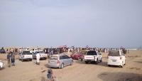 """احتجاجات واسعة أمام معسكرات سعودية في المهرة رفضا للاحتلال وباكريت.. """"صور"""""""
