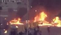 تحليق للطيران السعودي فوق مدينة عتق بالتزامن مع اشتباكات عنيفة.. صور