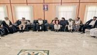وفد من مديرية حوف يقدم واجب العزاء في وفاة الراحل قابوس بن سعيد