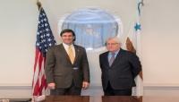 غريفيث يبحث مع وزير الدفاع الأمريكي جهود التوصل الى تسوية سياسية في اليمن