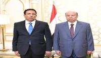 """محافظ المهرة يبعث برقية تهنئة للرئيس """"هادي"""" بمناسبة حلول عيد الأضحى المبارك"""