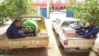 مكتب الزراعة والري بالمهرة ينفذ حملة رش لمكافحة الجراد في حصوين