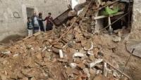 نجاة أسرة كاملة في صنعاء عقب انهيار منزلهم بسبب الأمطار (شاهد)