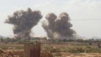 طيران التحالف السعودي الإماراتي يقصف مواقع للحوثيين في مأرب