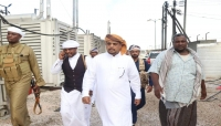 وزير الكهرباء يتفقد محطة كهرباء الغيضة ويهنئ المناوبين وكافة منتسبي الوزارة بالعيد