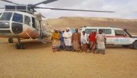 السلطة المحلية بالمهرة توفر طائرة مروحية لنقل المرضى العالقين بوادي المسيلة