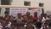 الشيخ الحريزي يقدم باص لأهالي منطقة عتاب بسيحوت لخدمة ونقل الطلاب